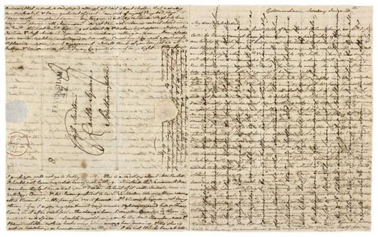 Jane Austen letter to sister Cassandra, Morgan Library