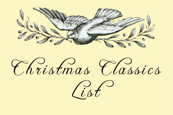 Christmas Classics List